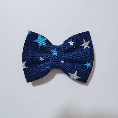 Navy Shimmer Star Bow Tie