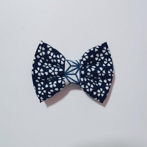 Navy Sakura Bow Tie