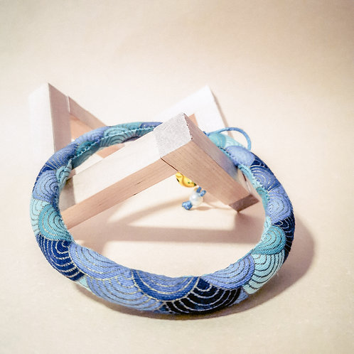 Blue Waves Rope Collar