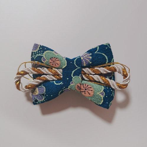 Navy Flower Hair Clip