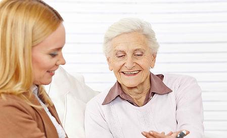 CP helping elderly woman