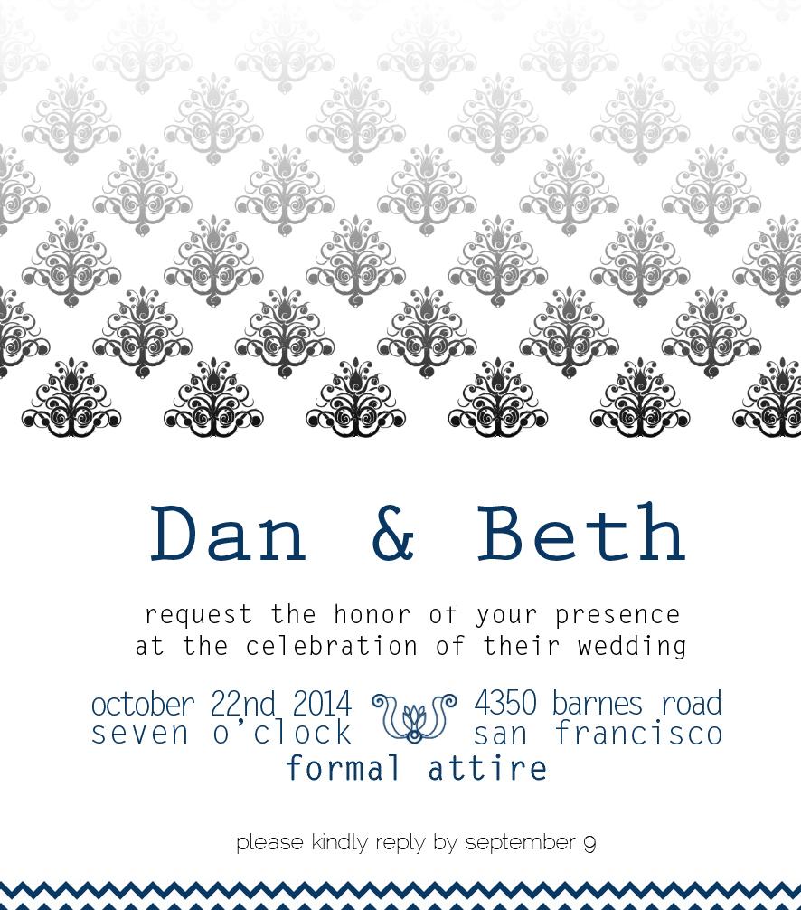 הזמנה לחתונה עיצוב גרפי פרינט