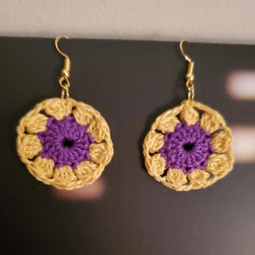 Be A Sunflower Crocheted Earrings