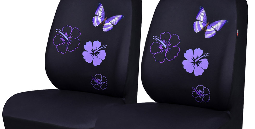 NEW ARRIVAL- CAR PASS Flower And Butterfly Universal Car Seat Covers
