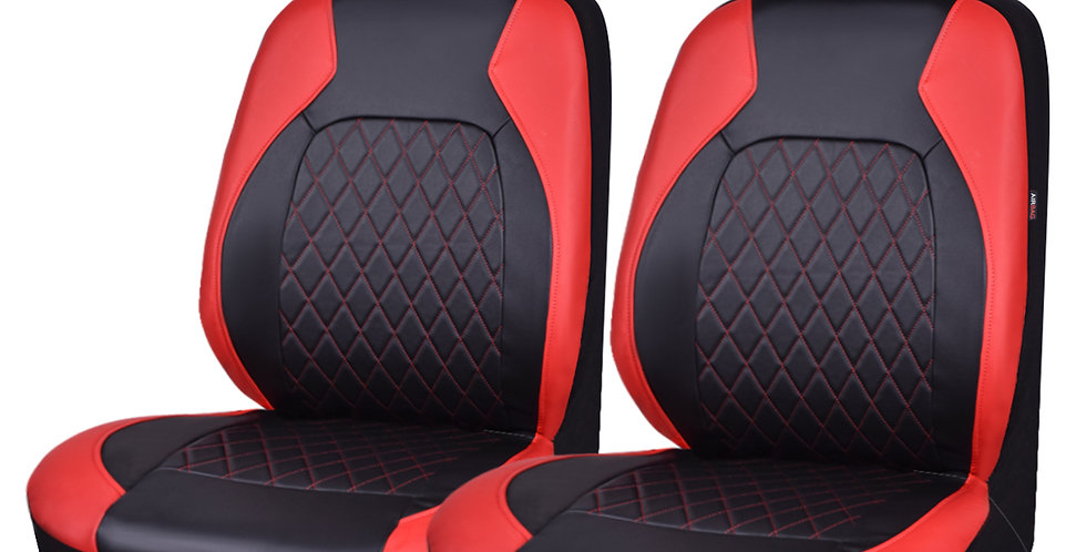 CAR PASS New Arrival 6PCS 2 Front Pu Leather Breathable Universal Car Seat Cover