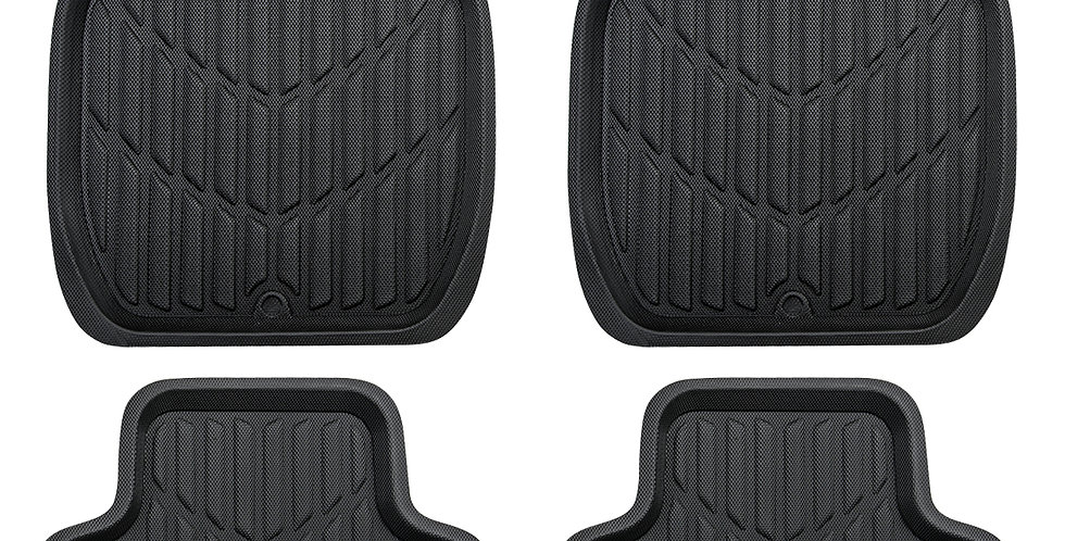 CAR PASS Universal Fit PVC Leather Car Floor Mats, Anti-Slip for Suvs,Vans,Truck