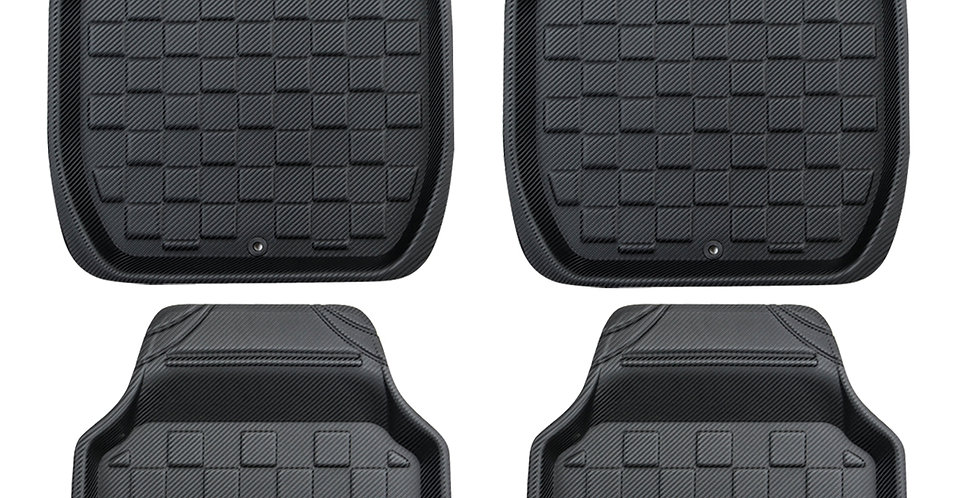 CAR PASS 4PCS Pu Leather Universal Car Floor Mats for Ford Toyotato Nissan Gols
