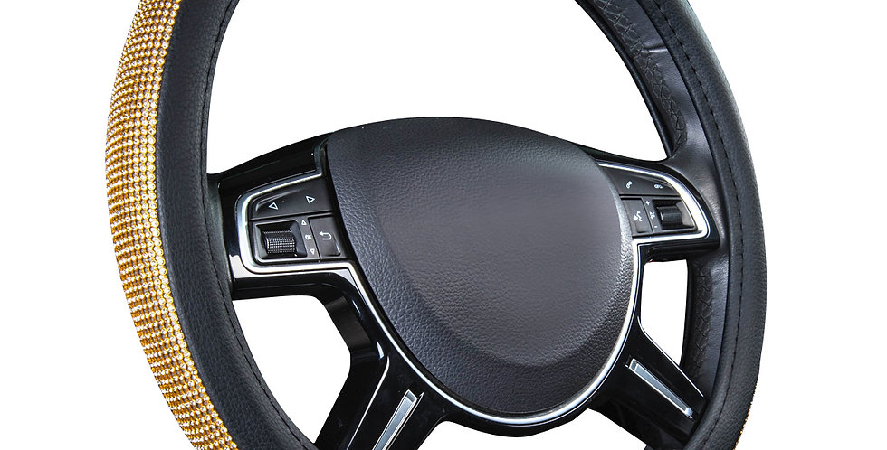 CAR PASS Diamond-studded Special Universal Car Steering Wheel Cover for SUVC Car