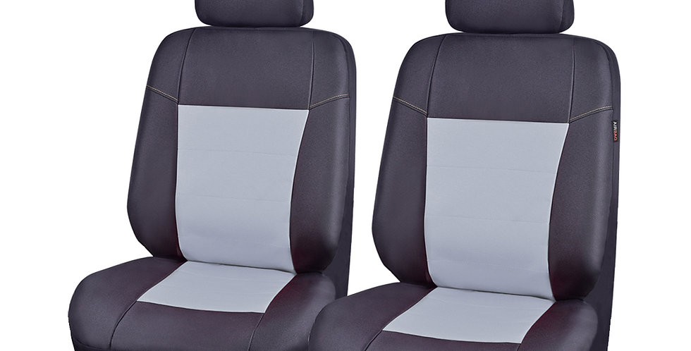 Universal two front pu artificial leather car seat cover