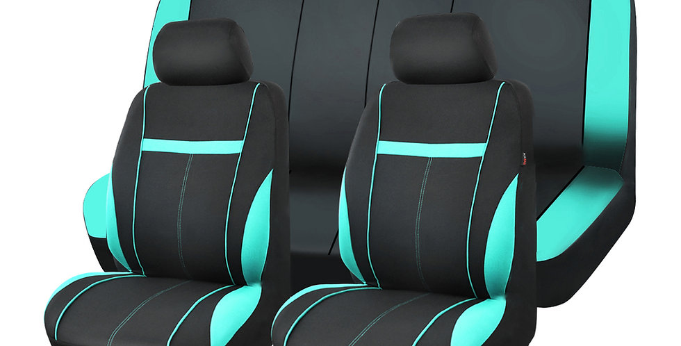 CARPASS Car Seat Cover Mesh Fabric 9PCS Universal for Toyota BMWNissan Ford Cars
