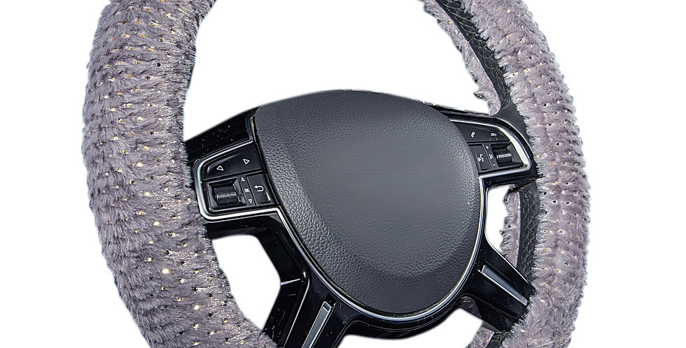 CAR PASS New Arrival Beautiful Fluff 38cm Beautiful Car Steering Wheel Cover