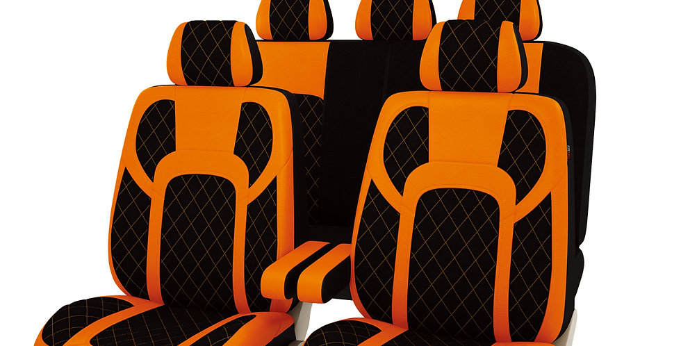 13 PCS Extreme Luxurous PU Leather Automotive Universal Seat Covers Set Packages
