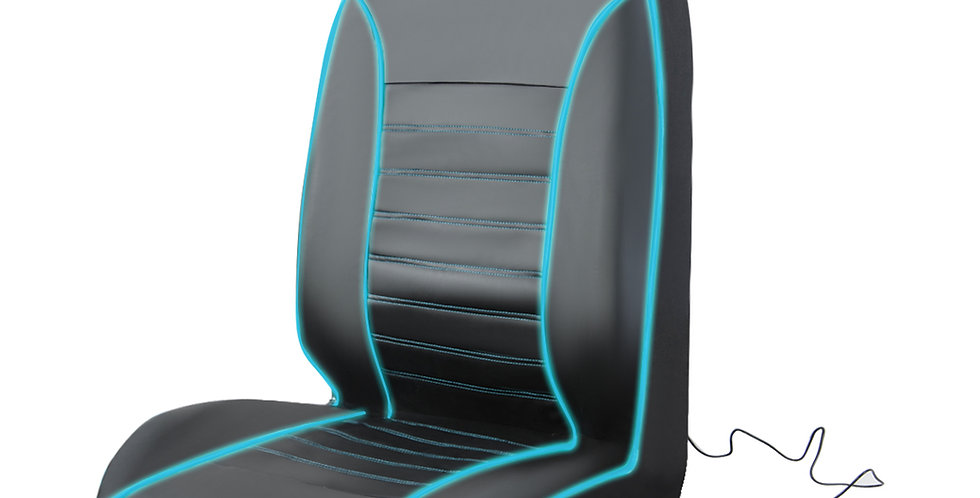 CAR PASS New Design 1PCS Pu Leather Green Line Shiny Universal Car Seat Cushions