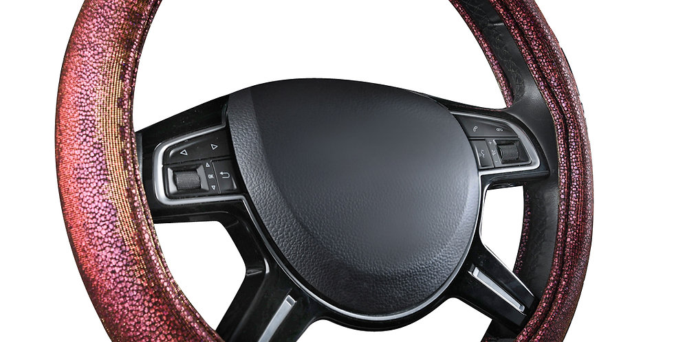 CAR PASS Car Steering Wheel Cover Cotton Material 38cm Comfortable for most Cars