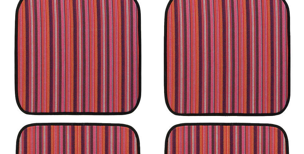 CAR PASS New Arrival 4 Pieces  National Style Beautiful Anti dust Car Floor Mats