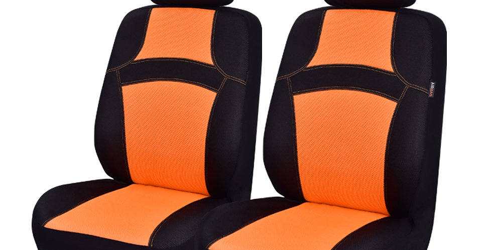 CARPASS Sandwich Mesh Fabric Orange Pink Green Mint Blue 2 Front Seat Cover