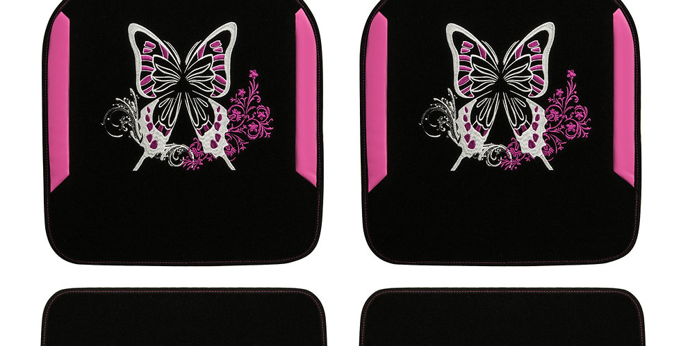 Car Pass Insparation Embroidery Beautiful Butterfly Universal Fit Car Floor Mats