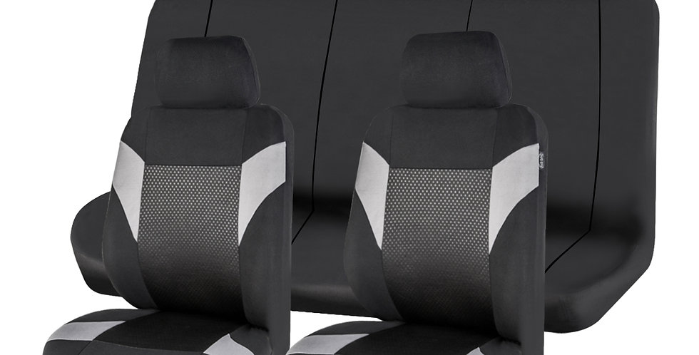 CAR PASS New Arrival Mesh Fabric 5 Seat Universal Car Seat Cover without Zippers