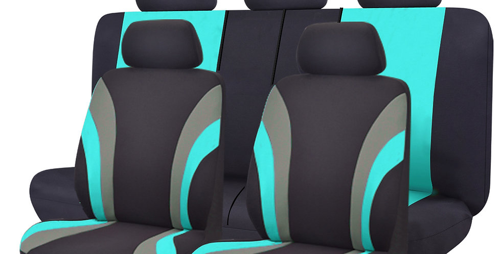 CAR PASS 11PCS Universal Fit Car Seat Covers 100% Breathable With 5mm Composite