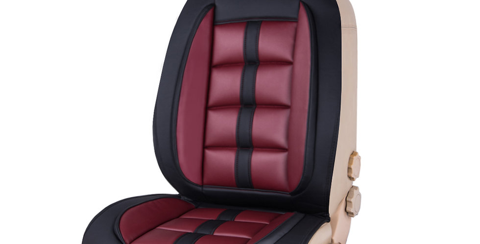 CAR PASS Car Seat Cushion Black with Wine Red 1 PC
