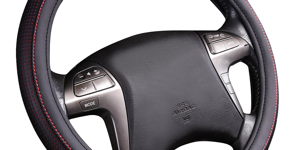 CAR PASS 3 Color Breathable Double Layers Universal Leather Steering Wheel Cover