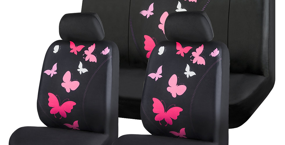 CAR PASS New Arrival Washable Beautiful Butterfly Car Seat Cover for 40/60 50/50