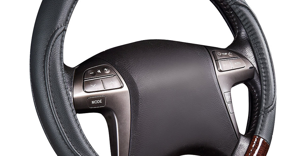 CAR PASS New Arrival 38cm Black Beige Color Universal Car Steering Wheel Cover