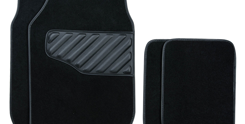 CAR PASS New Arrival 4PCS Black LeatherUniversal Car Floor Mat for Car Truck SUV