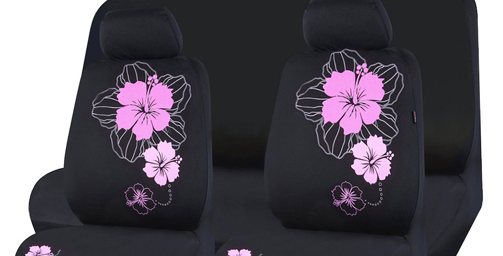 CAR PASS New Arrival Beautiful flower 3 colors mesh fabric car seat covers