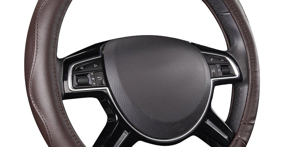Universal Steering Wheel Cover Genuine Leather