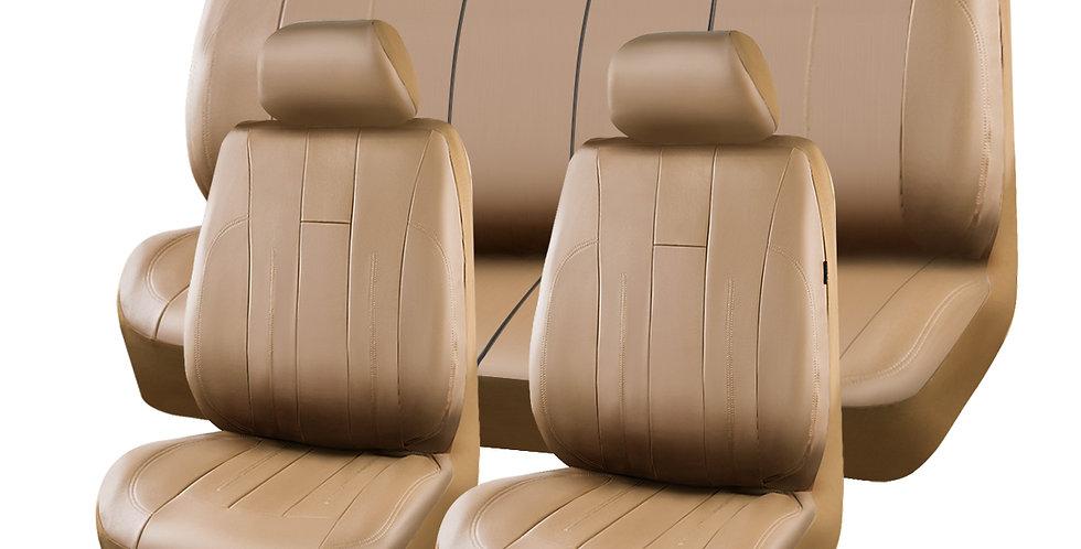 CAR PASS 2020 New Arrival 6PCS Brown Black Color Universal Front Car Seat cover