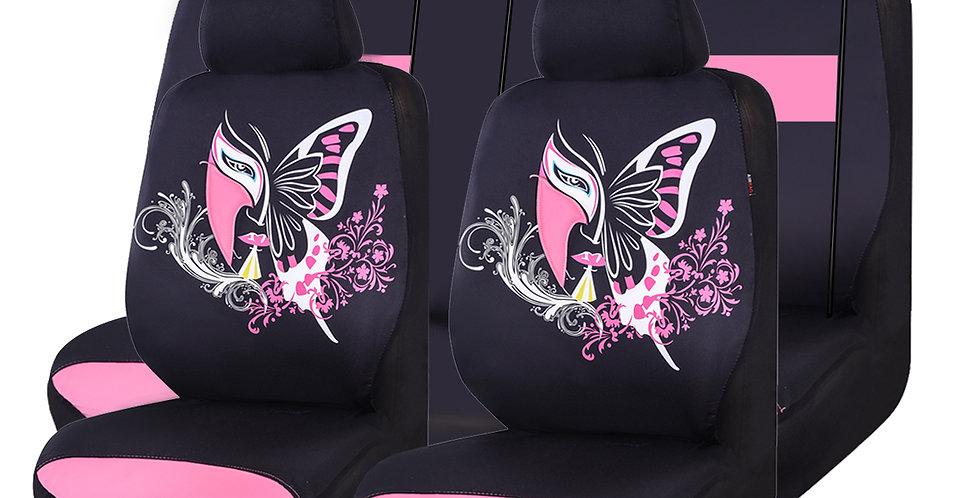 CAR PASS 11PCS Insparation Universal Car Seat Covers Set ,Airbag Compaitable