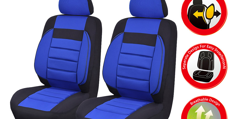 CARPASS Two Front 6 Colors Four Year Mesh Fabric Universal Car Seat Covers