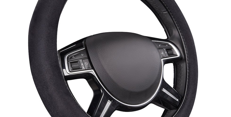 CAR PASS Faux Suede Universal Car Steering Wheel Cover Perfect fit for Car Truck