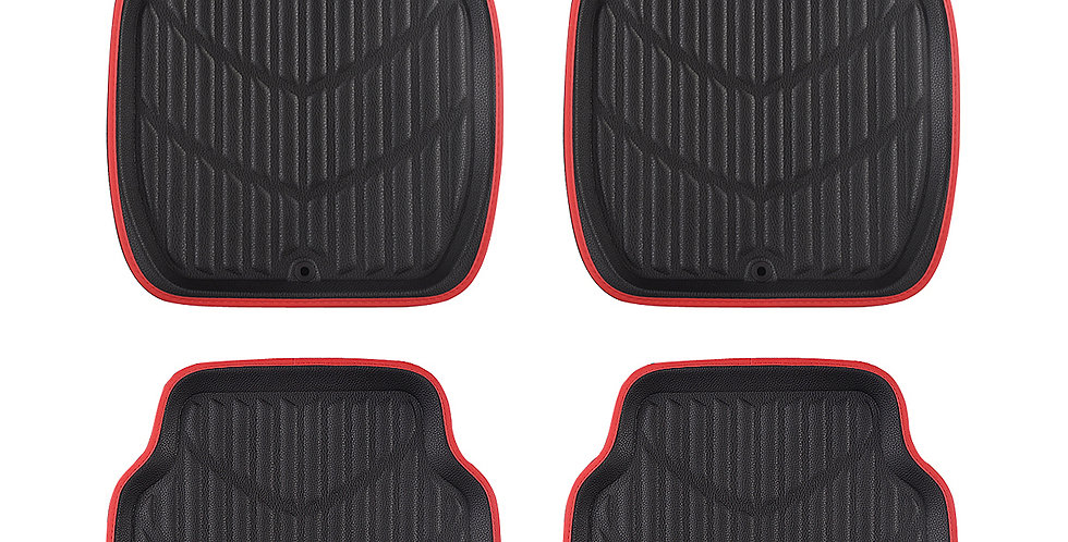 CAR PASS New Arrival Pu Leather Cloth Waterproof Anti-dust 4 Pcs Car Floor Mats