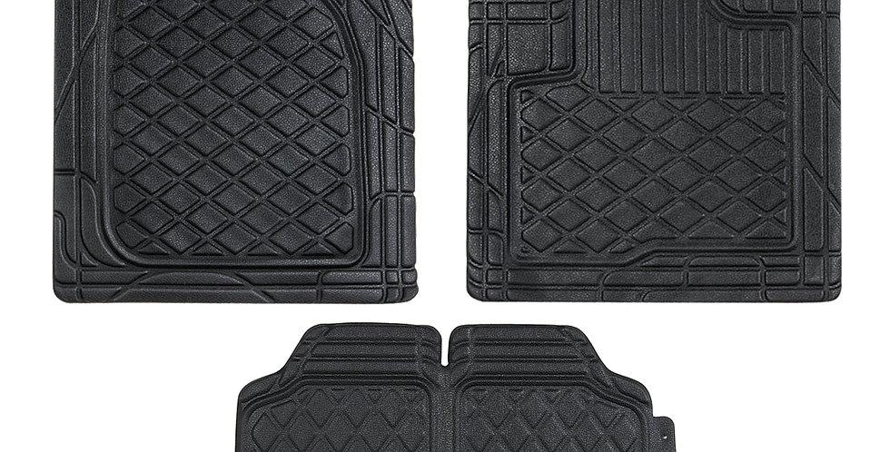 CAR PASS 2020 New Design 4PCS Pu Leather Car Floor Mat for Universal  Car Truck