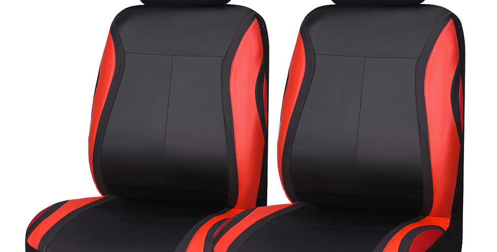 CARPASS New Arrival Red Blue Pu 2 Front Car Seat Cover fit SUV Volkswagen Toyoto