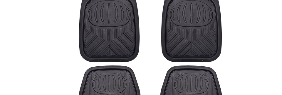 Linerider Universal All Season Heavy Duty Rubber Car Floor Mats Fits for Vehicle