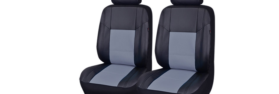 6Pieces Universal Skyline Airbag Compatible PU Leather Car Seat Cover with 5mm