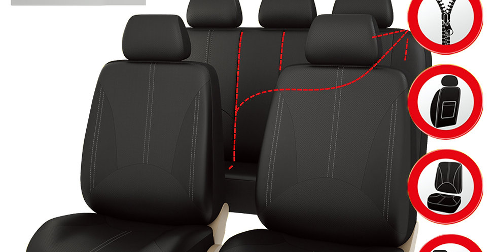 Elegant Luxurous PU Leather Automotive Universal Seat Covers Set Package-Univers