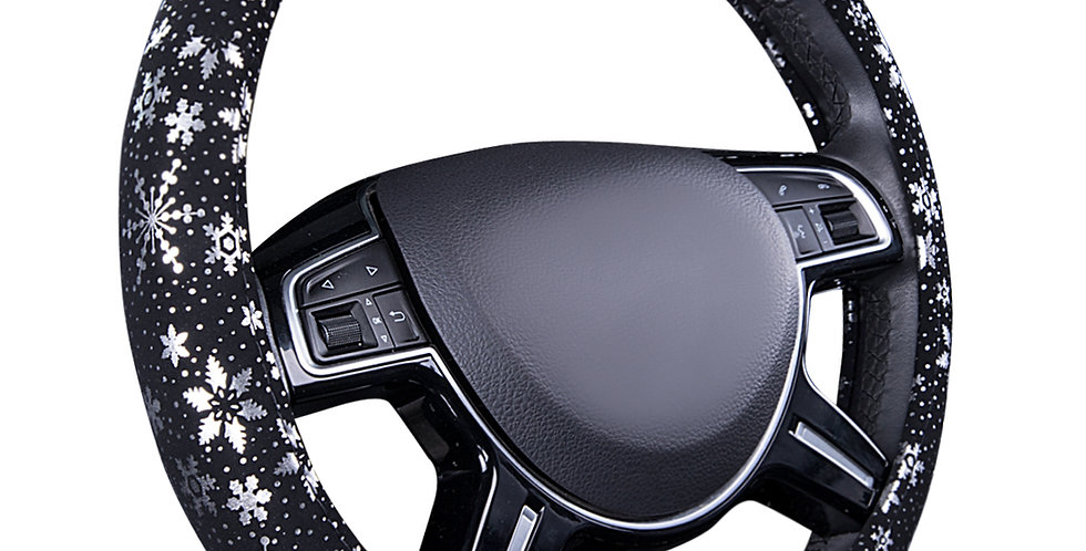 New Arrival Car Pass Pretty Snowflake  Leather Universal Steering Wheel Covers