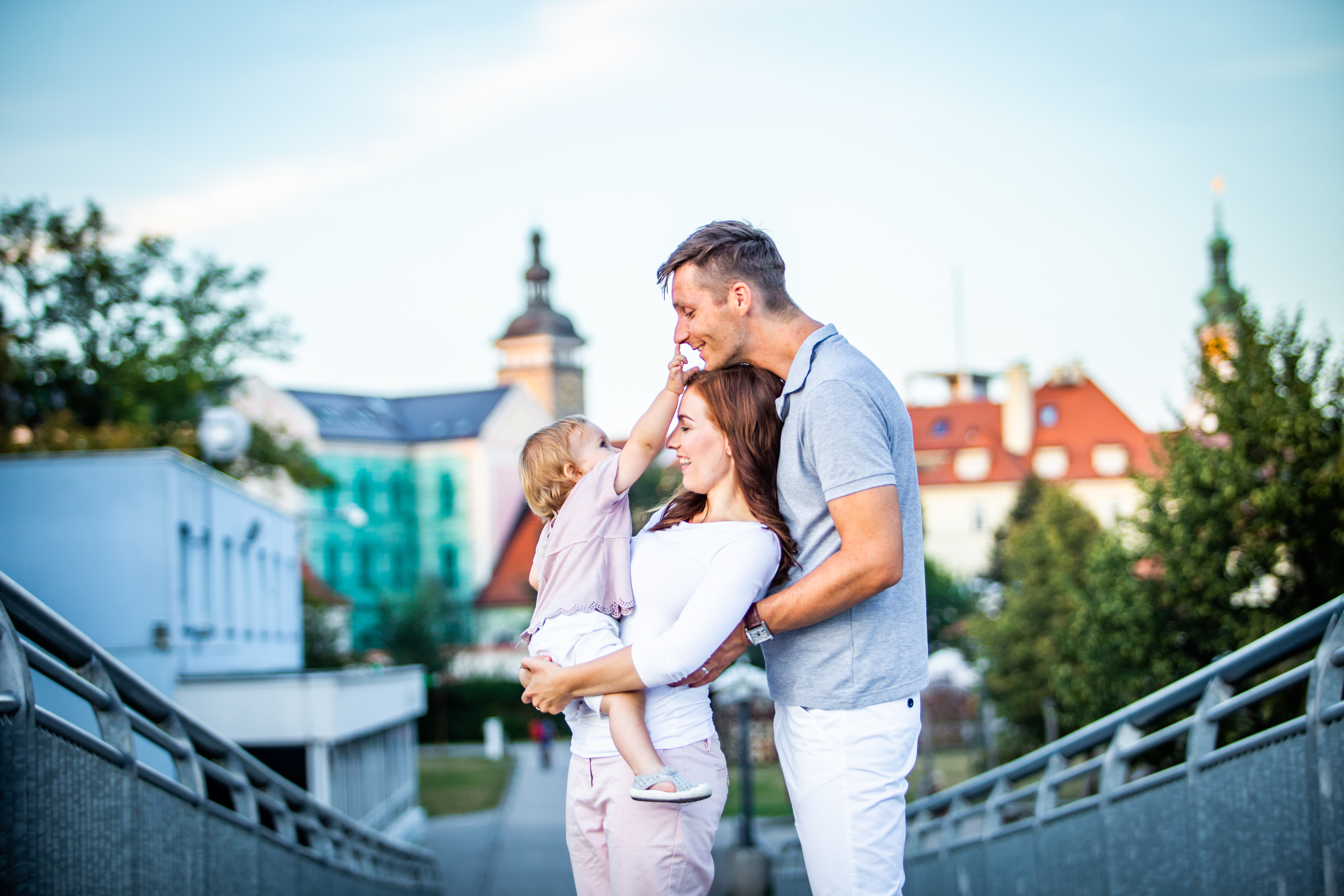 Family photography in the town