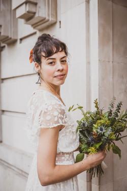 Bride at Hackney Town Hall