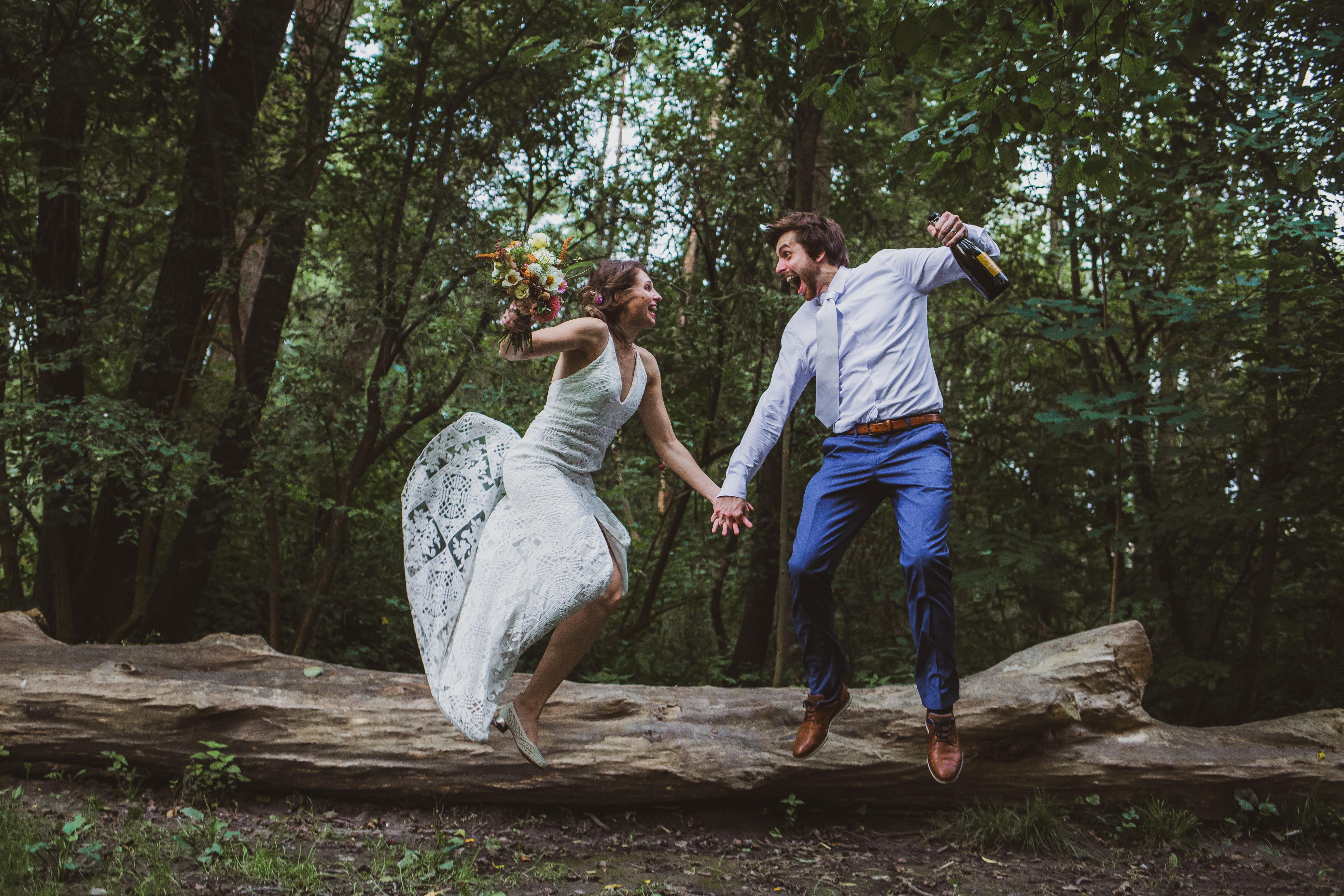 Action wedding photography