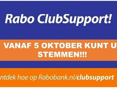 Uw steun gevraagd Rabo clubkas