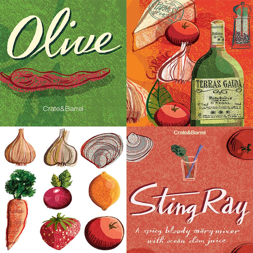 Packaging & Food Illustration