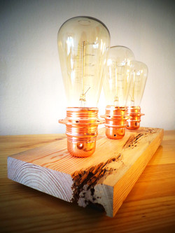 Reclaimed wood lamps