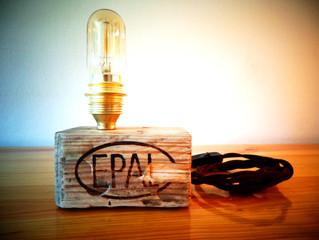 Industrial table lamp James Watt model