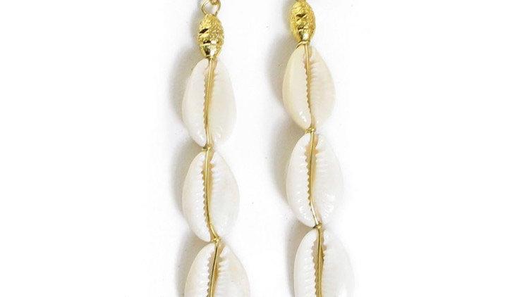 Cowrie & Gold Earrings