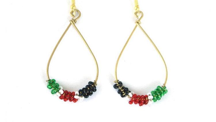 Colors of Africa tear drop earrings